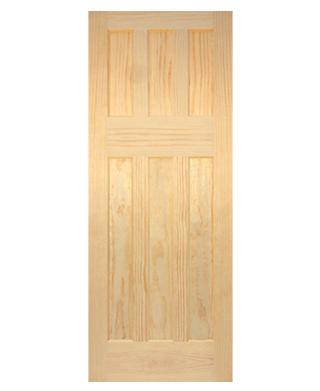 1930s Clear Pine 6 Panel Internal Door Early Doors Ltd