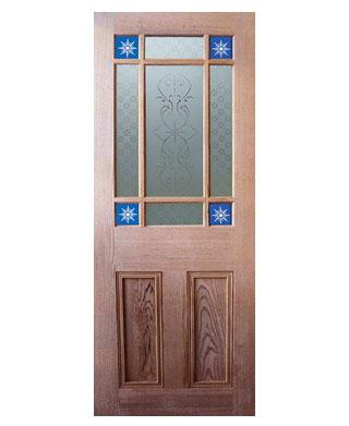 Victorian Pitch Pine Starburst Glazed Internal Door Early Doors Ltd